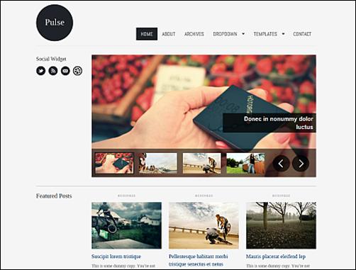The Pulse Minimal WordPress Wallpaper