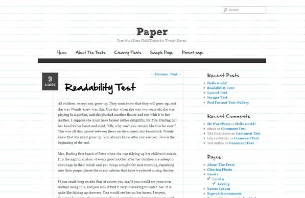 Paper Responsive WordPress Theme