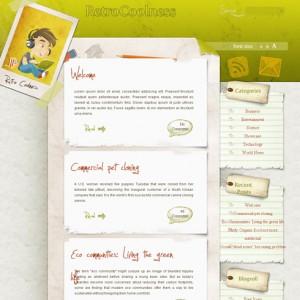 Cool Retro WordPress Theme