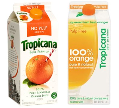 Tropicana packaging designs