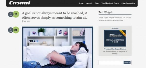 Casual Minimal WordPress Theme
