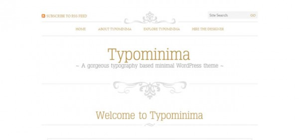 Typominima  WordPress Theme