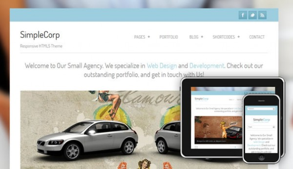 SimpleCorp Free WordPress Theme