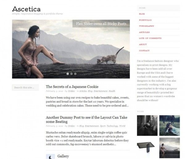 Ascetica theme