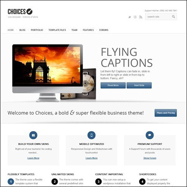 choices responsive business theme