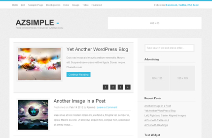 Free WordPress Theme – AzSimple