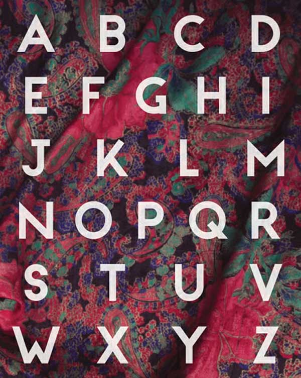 colorful a to z fonts