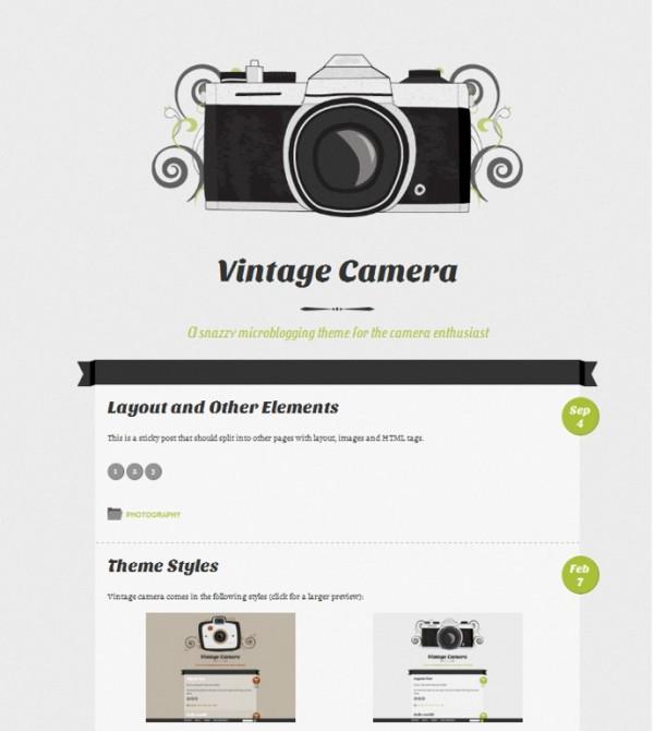 Vintage Camera theme