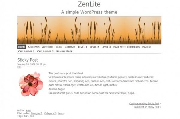 ZenLite theme