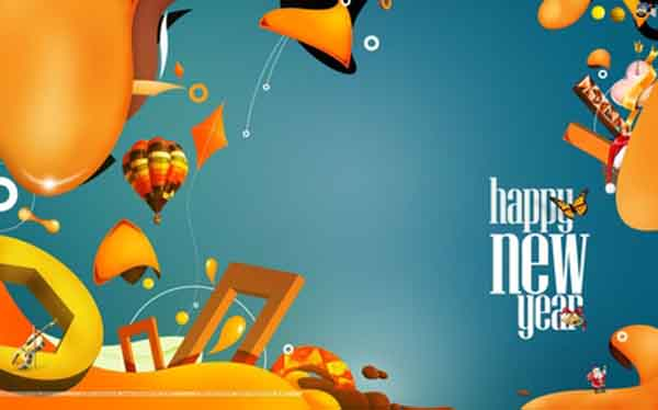 new year greetings card
