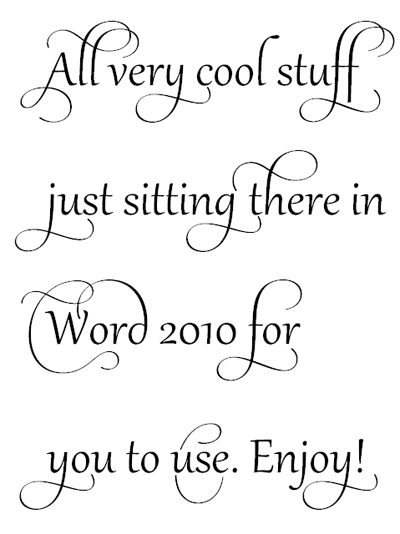 20+ Cool Fonts Of MS Word – Themes Company – Design Concepts for Life