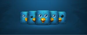 block look of twitter bird