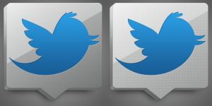 aluminum twitter icon