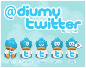 twitter birdies showing online status icon