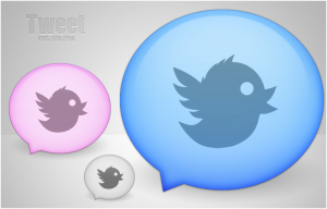 tweet ballons in several colors
