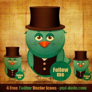 vintage effect of twitter bird